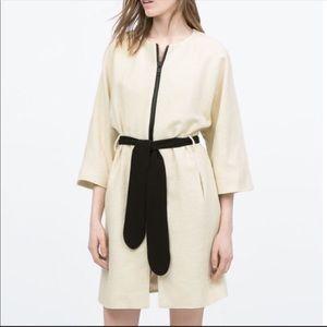 {Zara} kimono style zipper coat